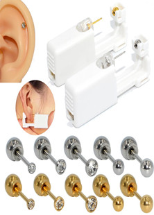 Disposable Sterile Ear Piercing Unit Cartilage Tragus Helix Piercing Gun