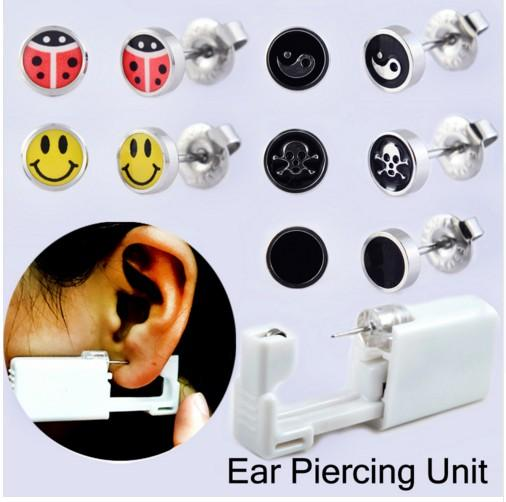 Disposable Safety Earring Gun Piercing Second Generation 1/100 With Moment Tool