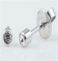 Bezel Regular Crystal Jewelry Earring 316 L Stainless Steel Ear Stud