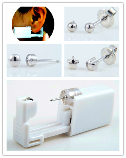 Disposable Ear Piercing Unit with Ball.Full moon earrings