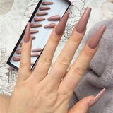 Box Packing Extra Long Coffin Glossy  Press On Nails False Ballerina False Nails